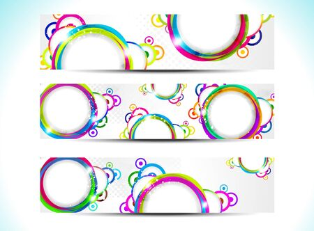 abstract colorful web banner illustration  Vector