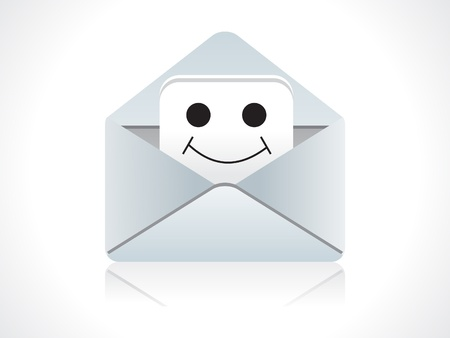 abstract mail icon with smiley illustration  Vector