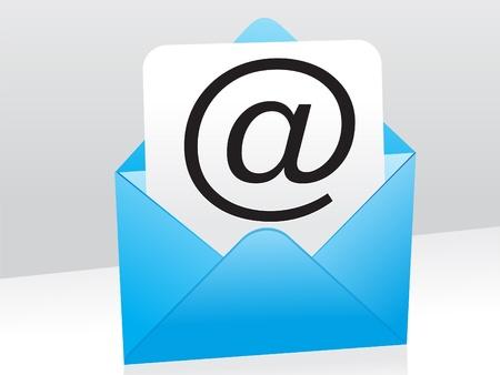 email us: astratto blu posta icona illustrazione vettoriale