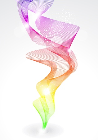 abstract rainow smike backgorund vector illustration Stock Vector - 10436863