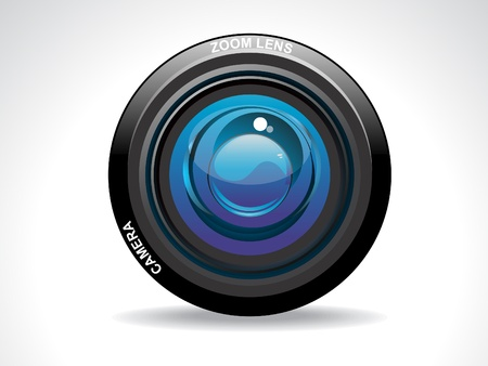 cam: abstract camera lense vector illustration