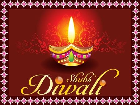 deepawali backdrop: abstract shubh diwali concept Illustration