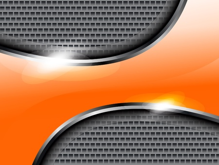 abstract orange steal background vector illustration