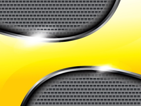 abstract yellow shiney mattlale background illustrator  Vector