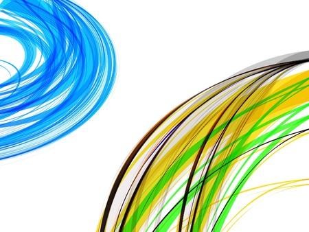 abstract  multi color wave backgorund vector illustration  Vector