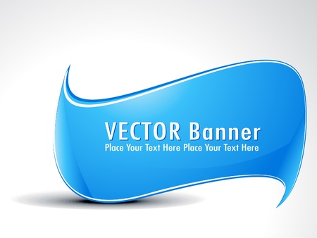 abstract cyan banner vector illustration