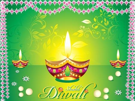 candil: Ilustración de vector de fondo abstracto diwali  Vectores