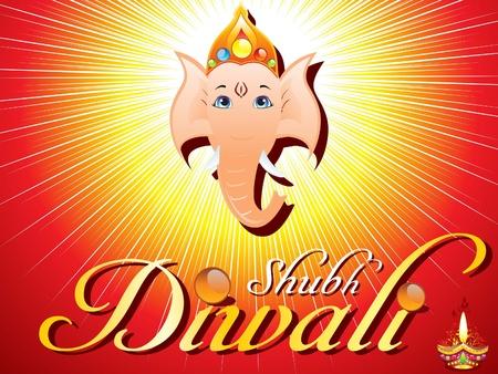 divinit�: Diwali abstraite illustration vectorielle carte