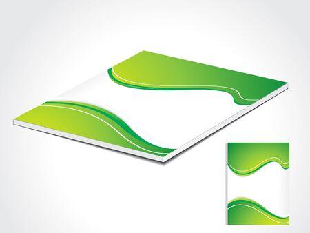 abstract green book cover vector illustration  Vector