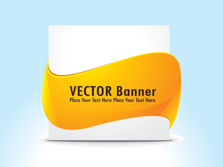 abstract banner with banner vector illustration  Stock Vector - 10998667