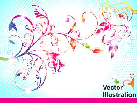 abstract colorful floral background vector illustration Stock Vector - 10998664