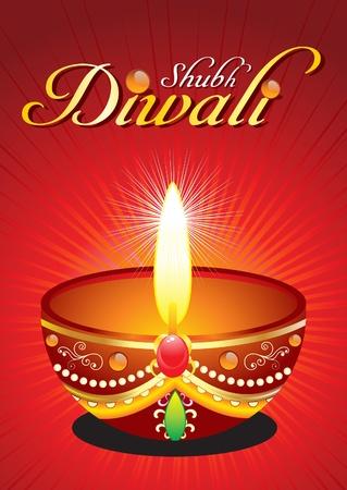 divinit�: Diwali abstraite de fond avec illustration vectorielle soul�vent