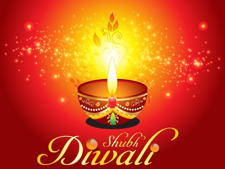deepawali backdrop: abstract diwali background with sparkle vectlr