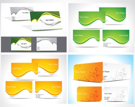 abstract business card set vector illustration Stock Vector - 11350678