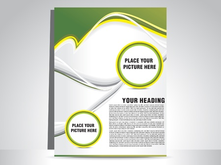 flyer template: abstract green flayer vector illustration
