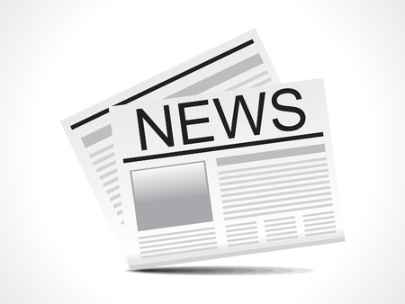 newspaper stack: abstract news icon vector illustration  Illustration