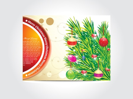 abstract christmas card vector illustration  Stock Vector - 11587590
