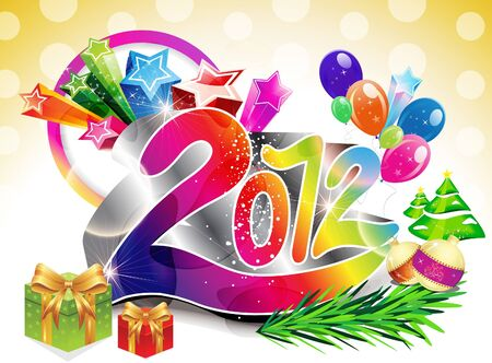 abstract colorful new year background vector illustration  Stock Vector - 11587604
