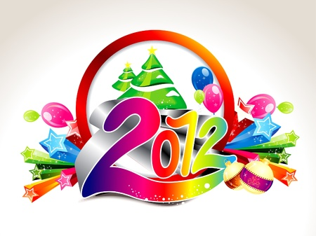 abstract new year background vector illustration  Vector