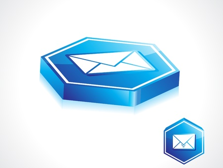 abstract blue mail button vector illustration Stock Illustration - 11587580