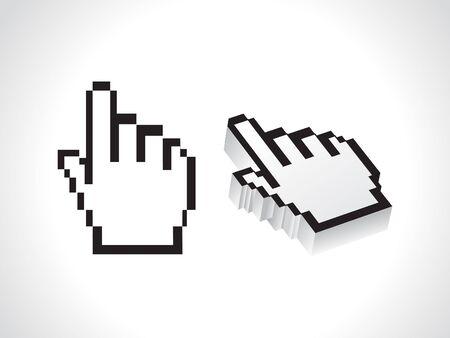 www arm: abstract hand cursor vector illustration