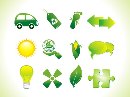 abstract eco icons vector illustration  Vector