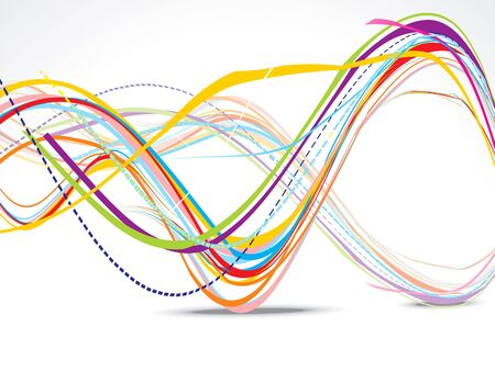 wave vector: abstract wave background with shadow vector illustration