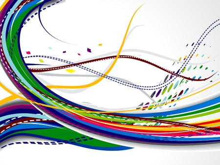 dotted lines: abstrac colorfult web backgorund vector illustration