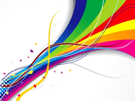 gr: abstract colorful weve background vector illustration