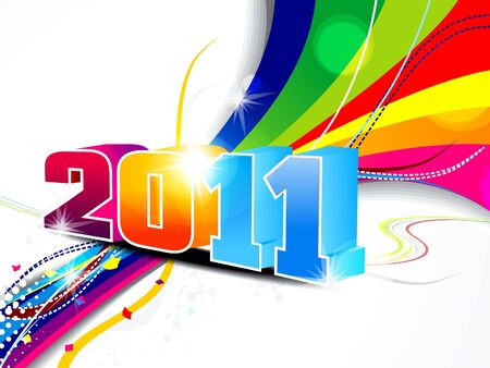 abstract new year wave background vector illustration  Vector