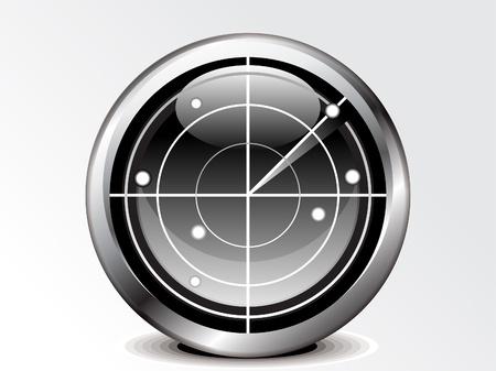 abstract radar icon vector illustration  Illustration