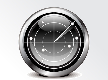 abstract radar icon vector illustration  Vector