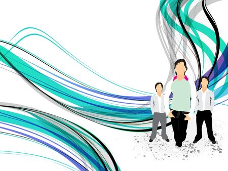 abstract l background with silhouette vector illustration  Ilustração