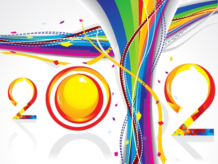 abstract new year wave background vector illustration Stock Vector - 11587625