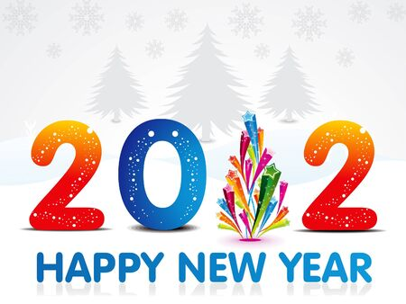 xmas linework: abstract new year background vector illustration
