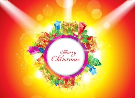abstract christmas banner with spot light vector illustration Stock Vector - 11664204