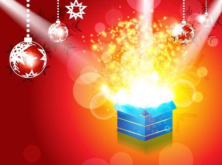 luz focal: abstract christmas magic caja con ilustraci�n vectorial punto de luz Vectores