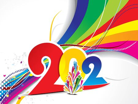 abstract colorful 2012 new year background vector illustration Vector