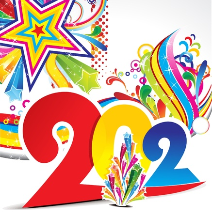 abstract colorful new year explode background vector illustration Stock Vector - 11675047
