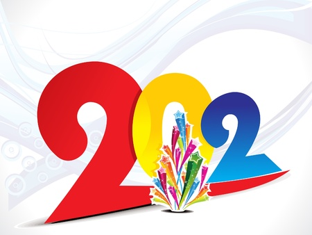 hollyday: colorful 2012 new year background vector illustration