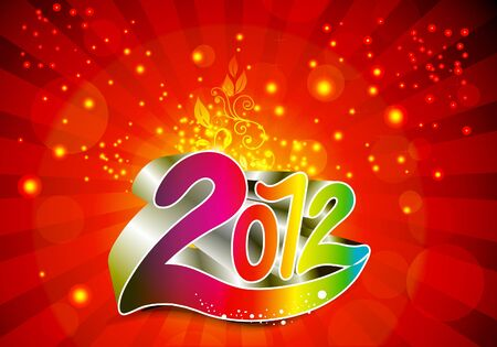 2012 new year background  Vector