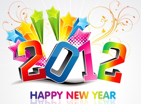Abstract colorful new year background