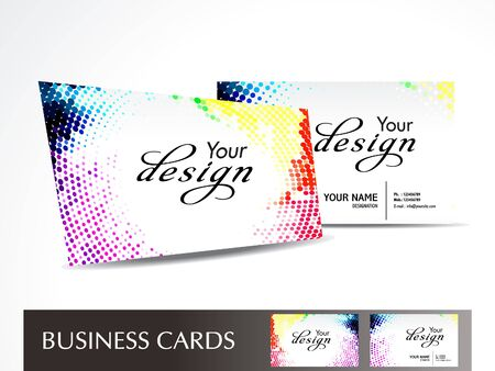 abstract dotted business card Vector