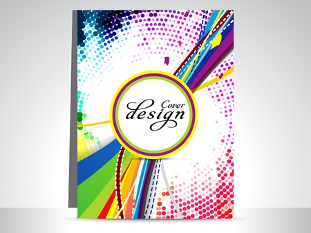 flayer: abstract colorful dotted flayer