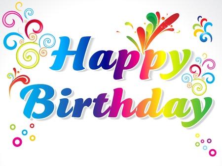 slice cake: abstract carta colorata buon compleanno Vettoriali