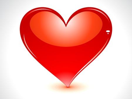 abstract glossy heart  Stock Vector - 11835953