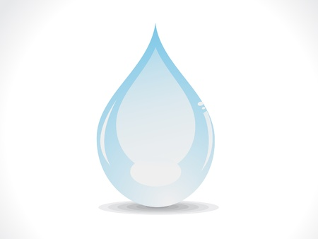 water surface: abstract glossy water drop vector illustration