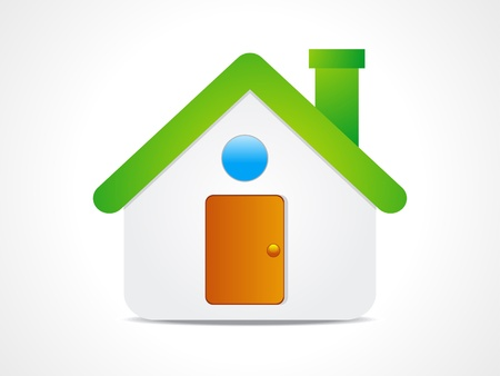 abstract home icon illustration Stock Vector - 11915957