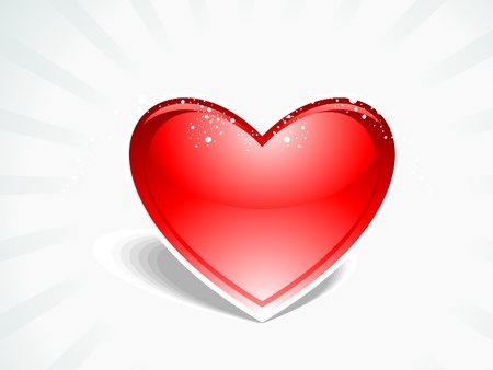 abstract red glossy heart illustration