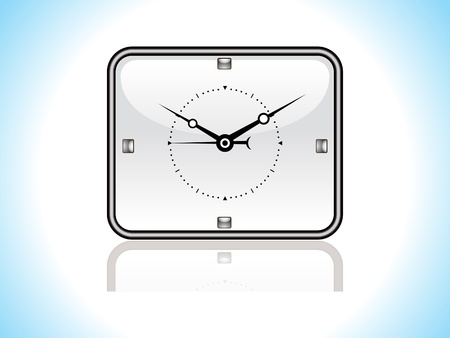 abstract glossy clock icon vector illustration  Vector